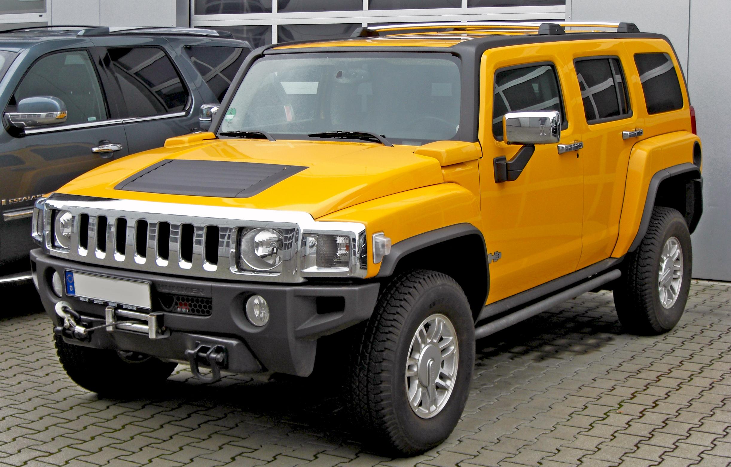 2014 Hummer H3 Yellow