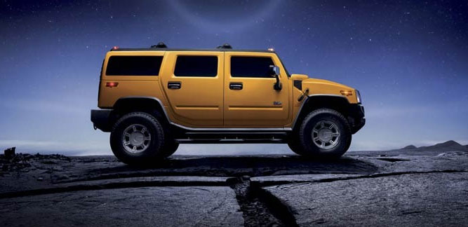 2014 Hummer H4 Yellow
