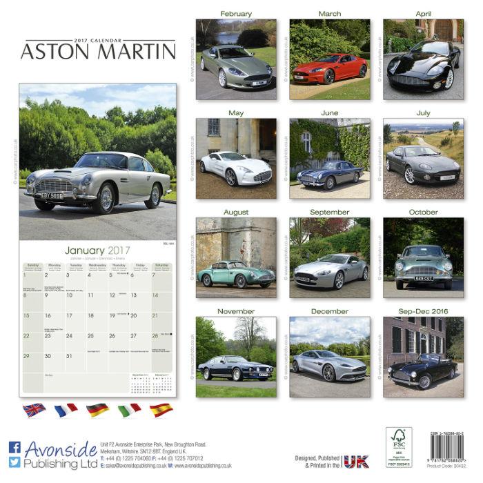 2017 Aston Martin Calendar