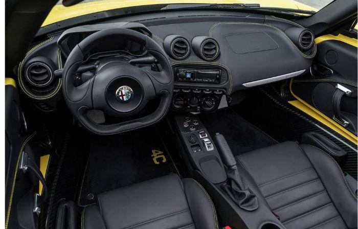 2017 Alfa Romeo 4c Coupe Interior