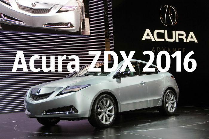 2016 Acura ZDX Model