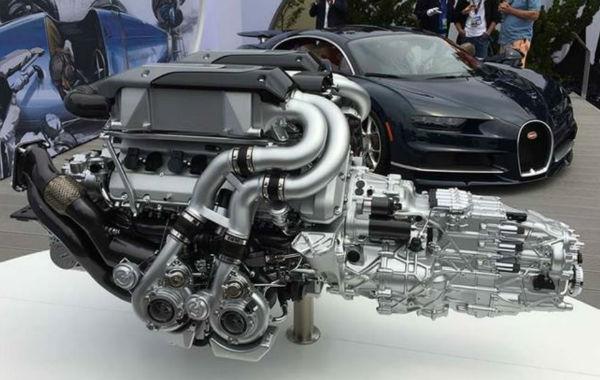 2019 Bugatti Chiron Engine
