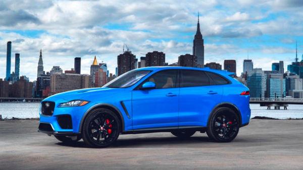 Jaguar F Pace 2019 Blue