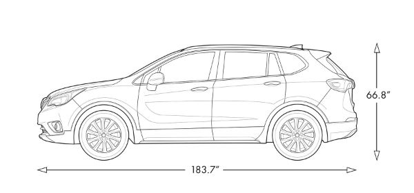 2020 Buick Envision Dimensions
