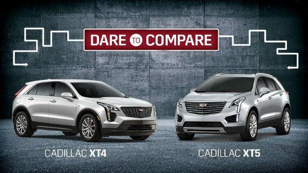 2020 Cadillac XT4 vs XT5