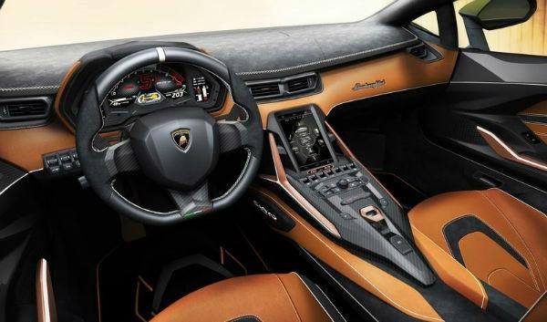 2020 Lamborghini Aventador interior