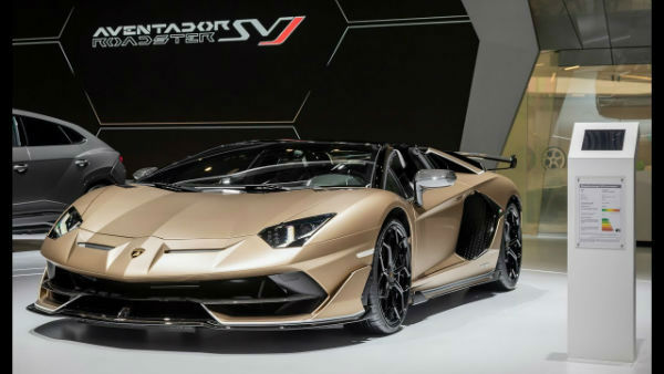Lamborghini Aventador 2020 interior