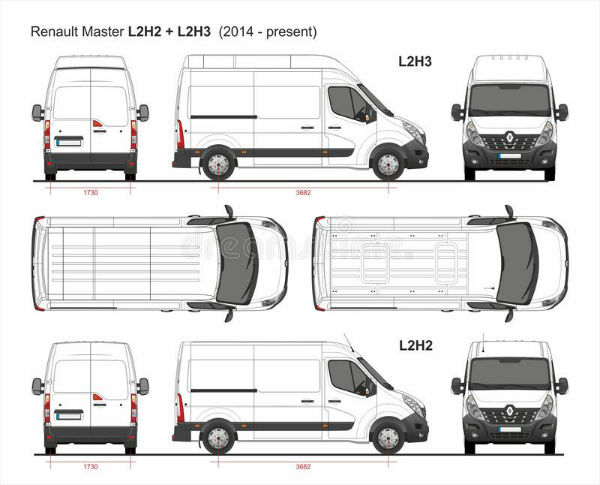 Renault Master 2020 Dimensions