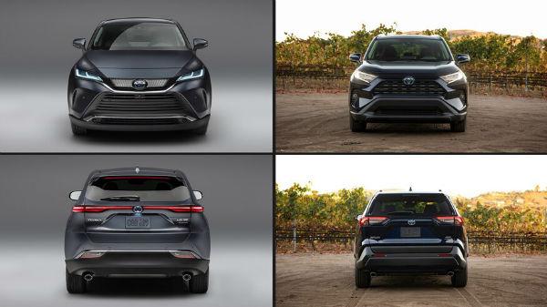 2020 Toyota Venza vs Toyota RAV4 Hybrid