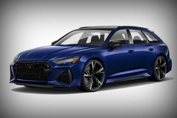2021 Audi RS6 Avant Blue
